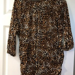 Bobbie Brooks Tops - Bobbiebrooks Cheetah print 3X blouse very soft.🌹